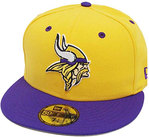 New Era Minnesota Vikings Yellow Purple TC 2 Tone Cap Team Back 59fifty Fitted Limited Edition Two Tone Fitted Cap