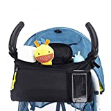 Pawaca borsa organizer con porta cellulare, Buddy borsa portaoggetti per passeggino passeggino portabicchieri food portaoggetti da appendere, sacchetto impermeabile Hanging pallet bag, borsa per pannolini