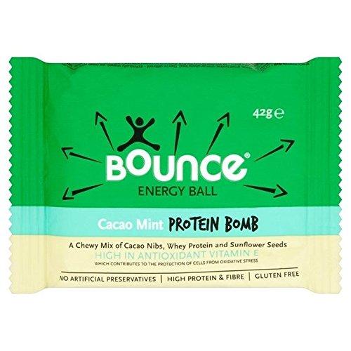 Bounce Kakao, Mint 42g-Protein Ball Pumpe (6er-Packung) (Bounce-walker)