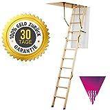 Bodentreppe DOLLE ClickFIX 56 SILVER 60x120 mit DECKENANSCHLUSS + ABDECKLEISTEN + Handlauf + Zufriedenheit garantiert U = 0,64 W/M2K