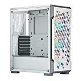 Corsair iCUE 220T RGB Airflow gehard glas Mid-Tower ATX Smart Gaming behuizing, wit