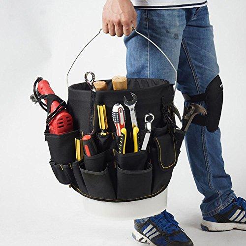 Hardware Tool Beuteltasche 56 Taschen große Kapazität Lagerung Multifunktions-Reparatur-Kit Tool Organizer Entfernung Anpassung Tool Kit, Eimer Caddy Organizer, Pocket-In & Out Eimer Taschen