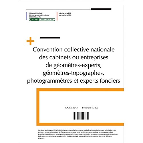 Convention collective nationale Géomètre Juillet 2017 + Grille de Salaire