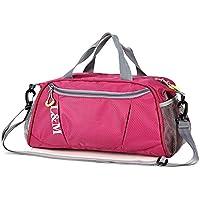 junlong-wet y seco bolsa de playa paquete gran capacidad profesional paquete nadar equipo bolsa de almacenamiento bolsa de viaje., rosa