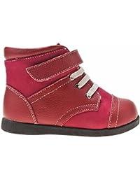 1d5962af41058 Little Blue Lamb Chaussures semelle souple fille Bottines à lacets  Chaussures à semelle souple fille Fille