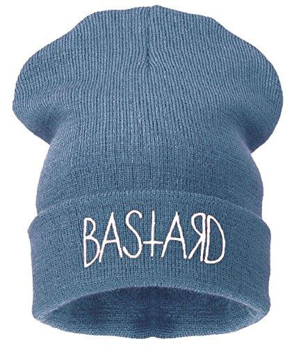 Beanie Hats Damen Strickmütze Schwarz Schwarz - bastard gray-white