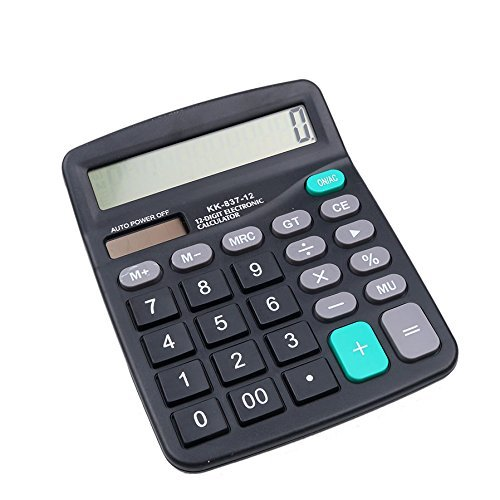 Xiton12 chiffres Calculatrice bureau Jumbo Grands boutons solaire Bureau Business Financial Accounting