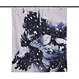 Elbenwald Batman Cortina de Ducha Power Wand Banner 180x200cm DC Comics Negro Blanco