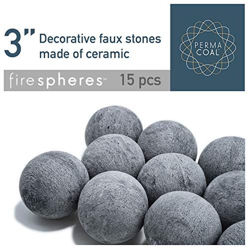 "Bond Manufacturing Feuerglas Fire Spheres 3\"" grau"