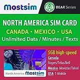 MOSTSIM - T-Mobile SIM-Karte für die USA, Kanada und Mexiko, unbegrenztes Highspeed-Datenvolumen und unbegrenzte Anrufe/Textnachrichten - 10 Tage
