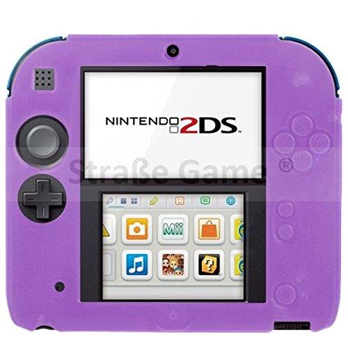 Housse étui protection silicone pour Nintendo 2 DS 2DS – Anti choc / rayures – Violet