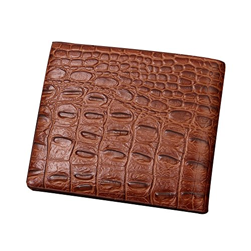 Ulisc Leather Classical European Style Men Wallets Fashion Purse Card Holder Vintage Mens Wallets And Purses Crocodile Pattern (Clutch Crocodile)