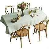 AHJSN Baumwolle und Leinen Tischdecke Stoff rechteckige runde Tischdecke Durchmesser 275cm (runde Tischdecke) hellgrün
