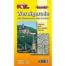 Wernigerode: 1:15.00 Stadtplan mit Wanderkarte zum Brocken 1:25.000, Wintersportmöglichkeiten, Stadtführer 1:5.000, Radrouten (KVplan-Kombi-Reihe / http://www.kv-plan.de/reihen.html)