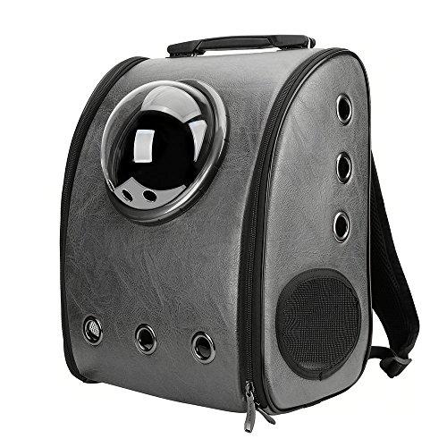 IACON Backpack Pet Carrier Haustier Rucksack Brust Tragetasche Transportrucksack für Hunde & Katzen (Black) (Rucksack Rädern Traveler Auf)