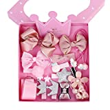 Haarspangen Set Mädchen Haarschmuck Bowknot Haarclip Blume Haarnadel Haarklammern mit Geschenkbox 18pcs Rosa