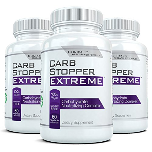 CARB-STOPPER-EXTREME-3-Bottles-Maximum-Strength-Carbohydrate-Starch-Blocker-Weight-Loss-Supplement-with-White-Kidney-Bean-Extract
