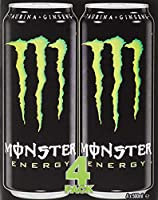Monster - Green, Bebida energética, 500 ml (Pack de 4), Lata