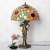 YISHUAI8 Moderne kreative Lampe/Europäische pastoralen 16-Zoll-Harz kreative Sonnenblume große Schlafzimmer Nachttischlampe Hochzeit Studie Wohnzimmer Tischlampe,Schönheit
