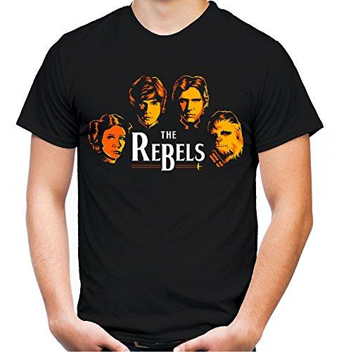 The Rebels Männer und Herren T-Shirt | Star Wars Vintage Empire Geschenk (XL, Schwarz) (Rebel Star Wars Kostüm)