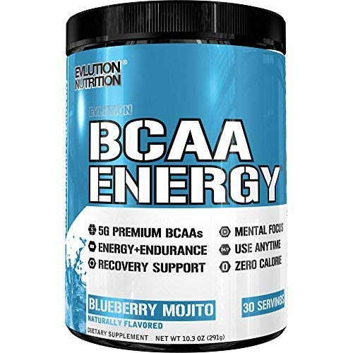 CAA Energy | Leistungsstarke Energiespendende Aminosäuren Für Muskelaufbau, Erholung Und Ausdauer (Blueberry Mojito, 30 Portionen) ()