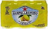 San Pellegrino Eau Pétillante Aromatisée au Jus de Citron Pack de 6 Boîtes x 33 cl - Lot de 2