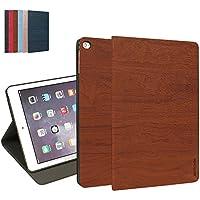 iPad Air 2 Custodia, MTRONX Smart Cover Case Peso Leggero Ultra Sottile Foglio Multi-Angolo PU Pelle Copertura Auto Sonno / Sveglia per Apple iPad Air 2 (iPad 6th Generation) - Marrone (WS-BN)