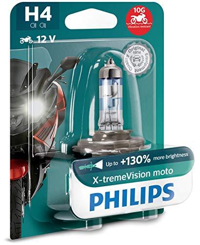 Philips 12342XV+BW X-tremeVision Moto +130{09666eb713ebd2cfb68034497780ce5ca7fe2ab37bb26b279461f50eb62ef9ca} H4 lampada fari per moto