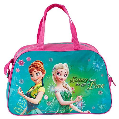 Kinder Tasche 40x25x13 cm - Disney Frozen Collection - PINK/TÜRKIS (pink-türkis) (Tasche Frozen Disney)