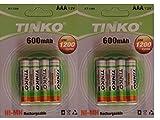 Best Las baterías AAA - 8 x 600 mAh 1,2 V recargable AAA Review