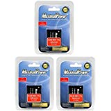 MaximalPower Battery Combo for Canon NB-11L/Canon PowerShot A2400/A3400/A4000 Camera (Pack of 3)