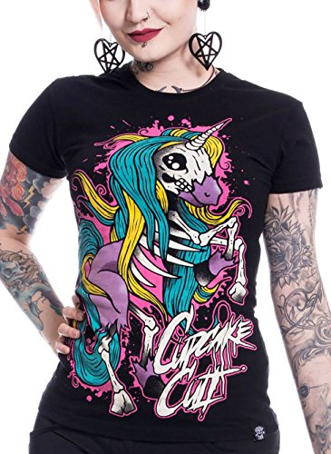 Cupcake Cult T-Shirt INTERNAL UNICORN T Schwarz