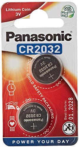 Panasonic CR2032 Batterie (2er-Pack) Lithium-Knopfzelle 3V
