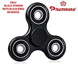 #9: Premsons Fidget Spinner 608 Four Bearing - Black + Black