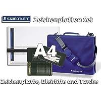 STAEDTLER Mars® Zeichenplatten Design-Set A4 [Zeichenplatte + original Tasche und Faber Castell Bleistifte Set]