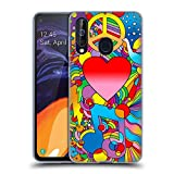 Head Case Designs Offizielle Howie Green Frieden, Liebe Und Musik Herzen Soft Gel Huelle kompatibel mit Samsung Galaxy A60 (2019)
