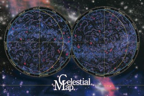 Sky Chart (1000 Pisuji Atlas all-sky star chart 11-351 gurus! Puzzle Aim (japan import))