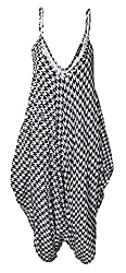 Ladies Cami Lagenlook Romper Baggy Harem Jumpsuit Playsuit Dress Plus Size