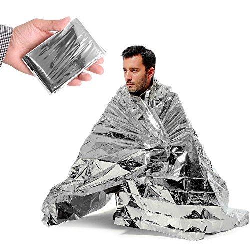 Notfall Silber Mylar Thermo Compact Wasserdicht Decken für Erste Hilfe Kits, Naturkatastrophen Equipment, Körper Wärme, hält sie warm (10Stück) (And Big Outlet Tall)