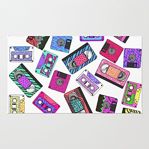 oransuger flanella Zerbino due set 160705-6, Retro Patterned Cassette Tapes, 50 cm x 80 cm