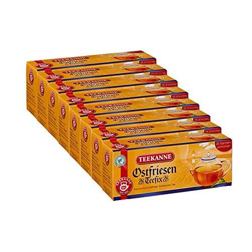 Teekanne Ostfriesen TeeFix Kannenportion, 25 Kannen 8er Pack