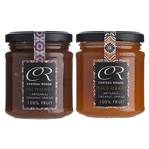 Jam gifts sets for christmas amazon organic fig walnut and peach apricot jams sugar free 100 pure fruit spreads gift set 2 jars negle Image collections