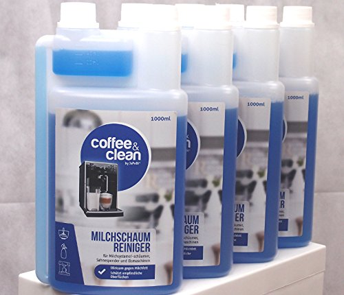 8x 1 Liter Kaffeevollautomaten Milchschaum-Reiniger Milchschaumdüsen-Reiniger Eiweiß-Reiniger Milchfett-Reiniger JaPeBi®