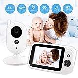 BABIFIS Monitor de 3,5 Pulgadas para bebés, Dispositivo de Cuidado para bebés, multilingüe, visualización de la Temperatura, visión Nocturna por el intercomunicador, Reproducir música