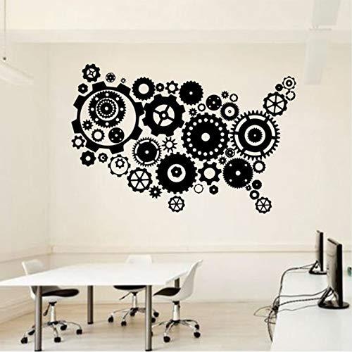 Fushoulu 63X42 CmBüroKarte Wandtattoo Idee Teamwork Business Worker Inspire Büro Dekoration Motivation Aufkleber Wandbild Einzigartiges Geschenk