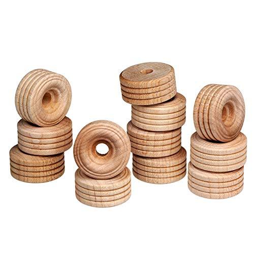 FEINSCHNITTkreativ Holzräder 25 x 12 mm (12 Stück) | Ideal für Fahzeug- und Modellbau