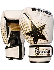 Farabi Fight Gear - Guantes de boxeo infantiles (170 g), color blanco