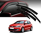 #6: Auto Pearl - Premium Quality Car Rain Wind Door Visor Side Window Deflector For - Volkswagen Polo - Set Of 4 Pcs