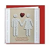 Knopfkarte 22 - 1000 gute Wünsche - Hochzeitskarte