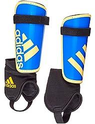 Adidas Ghost Youth - Espinillera Infantil, Azul / Amarillo, L, Pack de 2